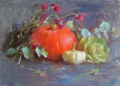 "Daily Paintworks - ""pumpkin"" - Original Fine Art for Sale - © Taisia Kuklina"