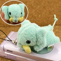 Happy Meal! Cutie Animal Stuffed Toy Cell Phone Strap (Elephant) - Hamee.com
