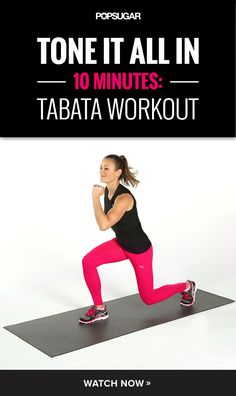 Try Tabata! This 10-minute workout will work your entire body and torch serious calories. #pictures #fitness #fat #ideas #pretty #gorgeous #health #healthy #living #life #girl #abs #lean #beauty