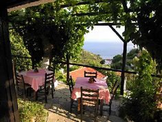 Astrofegia - ALONISSOS ISLAND Greece - I could definitely have lunch here and soak up the view!