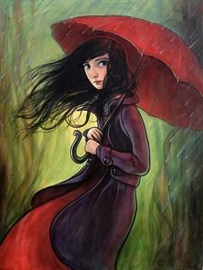 "My painting ""Red Umbrella"" now available as a signed and numbered limited edition giclee print in an edition of 75."