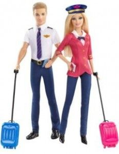 """Barbie Careers Airplane Pilot Dolls Giftset, Barbie and Ken - Arco Toys - Toys """"R"""" Us Mattel Barbie, Barbie Und Ken, Barbie Club, Toys R Us, Barbie Pink Passport, Doll Clothes Barbie, Barbie Stuff, Ken Doll, Anna Dolls"""