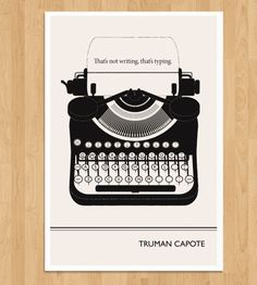 Illustrated Truman Capote Quote Print | Art Prints | Obvious State Studio | Scoutmob Shoppe | Product Detail