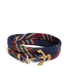 Kiel James Patrick Signature Tartan Wrap Bracelet