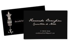Criação de cartão de visita para blog de moda by pashion studio (business card for fashion blog)