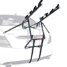 Allen Sports Deluxe 4-Bike Trunk Mount Rack. Fits most sedans, hatchbacks, minivans & SUV's. Single configuration design eliminates headaches during set-up & installation. Patented tie-down system individually secures bicycles. Fully assembled - sets up and installs in seconds. Lifetime on workmanship and material.