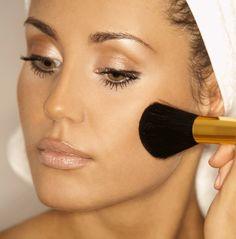 pretty face makeup with bronzer - eye makeup and lip makeup