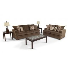Inexpensive furniture until my kids grow up and get out.Miranda 7 Piece Living Room Set from Bob's furniture