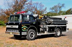 1971 Ford C900 Fire Engine....unusual black color...