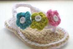 Crochet Baby Flip Flops Pattern Free