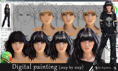 Digital painting (step by step) by Kajenna on DeviantArt