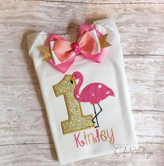 Flamingo Birthday Shirt and Tutu COLOR SCHEME: Pink, Coral, Orange, Gold HOW DO I ORDER? Please read the Frequently Asked Questions at the bottom of this page for order instructions and important information you need to know before placing your order. Please contact me with any