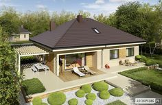 Modern Bungalow Family Home with Dynamic Features - Pinoy House Designs - Pinoy House Designs Modern Family House, Small Modern Home, Bungalow House Design, Modern Bungalow, Contemporary House Plans, Modern House Plans, Story House, Simple House, My Dream Home