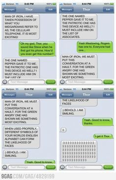 Thor got a cell phone. :) Love this