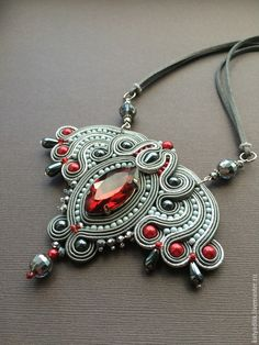 / pendant necklace / beads and soutache / handmade by katya dikk / сутажный кулон / екатерина декалова / Boho Jewelry, Handmade Jewelry, Jewelry Design, Women Jewelry, Soutache Pendant, Soutache Necklace, Pendant Necklace, Bead Embroidery Jewelry, Beaded Jewelry Patterns