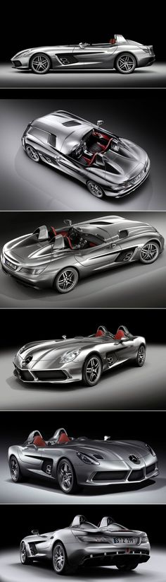 Even though the Mercedes-Benz SLR Sterling Moss Roadster was created almost a decade ago, its sweeping lines across the entire body makes it one of the most timeless cars in the world.