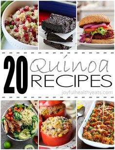 20 Easy Delicious Quinoa Recipes by Joyful Healthy Eats. www.facebook.com/angelabuckfitness If you're interested in redefining your life to become healthier, email me at redefinewithangela@gmail.com. I would love to help you! #redefine #redefinewithangela #redefined #fiber #snack #salad #breakfast #lunch #dinner #summer #picnic #food #health #healthy #nutrition #cleaneating #lowcalorie #highprotein #fitness #exercise #workout #weightloss #fitspiration #mealplanning www.redefinewithangela.com