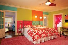 colores vibranbtes paredes dormitorio ideas originales modernas