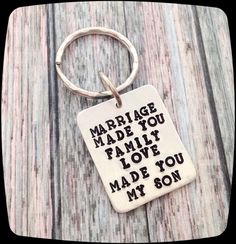 Adoption Gift, Blended Family Gift,  Step Son Gift, Adoptive  Parent Gift to son, Son In Law Gift