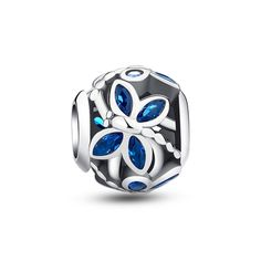 "Blue Butterfly Openwork Charm❤Fits all brands bracelet.Wonderful gifts for family,lover,friends...Get 5%off on www.glamulet.com with coupon code ""PIN5"" #Glamulet"