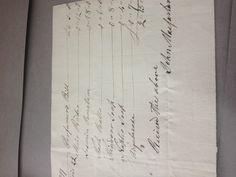 Another perfumers bill for William Pitt, written out by John Macfarlene (my photo)
