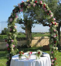Wedding arch floral