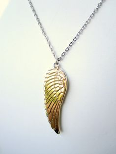 Angel Wings Necklace Silver Gold Men Necklace For by pearlatplay, $29.50