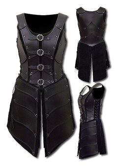 Black leather armour--I would so wear this... If I could come up with any place or excuse to wear it.