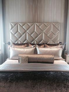 bedroom headboard designs that embellish your bedroom 3 Bed Headboard Design, Headboard Decor, Bedroom Bed Design, Headboards For Beds, Diva Bedroom, Modern Headboard, Upholstered Headboards, Design Room, Bedroom Ideas