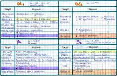 mynotes4usmle:  ALPHA & BETA RECEPTORS  I love handwritten charts!