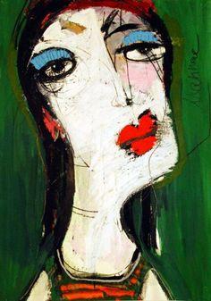 cleverwordsandotherstuffilike is part of pencil-drawings - Artist Oxana Mahnac Figure Painting, Painting & Drawing, Abstract Portrait Painting, Abstract Faces, Outsider Art, Portrait Art, Face Art, Figurative Art, Art Inspo