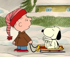 Snoopy & Charlie brown welcome December