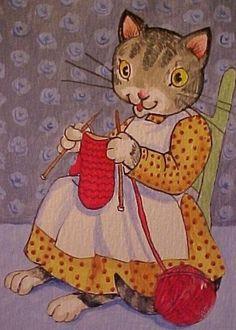 Kitten Knittin Mitten by ~Disgustedcats on deviantART