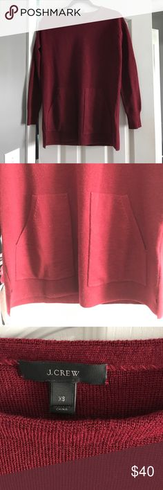 J. Crew NWOT❗️Merino Pocket Tunic PERFECT for fall. Oversized. Not itchy! I measured and it's appx 28 inches long. Check out the website description for more! J. Crew Sweaters Crew & Scoop Necks