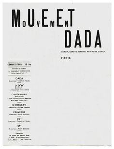 Tristan Tzara's original Letterhead design for the Dada Movement.