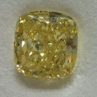 Other - Cushion cut natural fancy yellow diamond of 15.33 ct