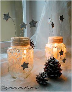 Zimní svícínky