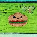 Burger Feltie ITH Embroidery Design 4x4 hoop (and larger)