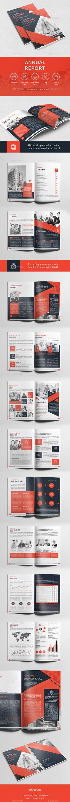 A5 Annual Report  — PSD Template #professional #business • Download ➝ https://graphicriver.net/item/a5-annual-report/18145096?ref=pxcr