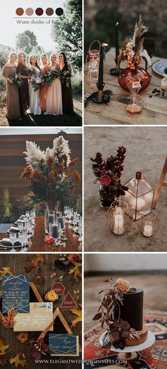 Trending-Dark Romance Moody Hues for Fall & Winter Wedding Color Ideas