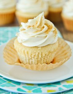 These amazing vanilla cupcakes start with a box mix, but this recipe will have everyone thinking you made them from scratch!
