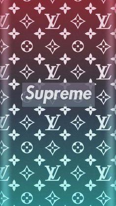 Louis Vuitton X Supreme Pattern Wallpaper Wallpapers Iphone