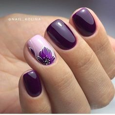 Stylish Nail Art Design & Images Easy to do at Your Home - Naildesign Fullcover . - Stylish Nail Art Design & Images Easy to do at Your Home – Naildesign Fullcover – - Stylish Nails, Trendy Nails, Diy Nails, Cute Nails, Gel Manicure, Manicures, Purple Nail Art, Purple Glitter, Purple Nails With Design
