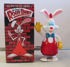 """MIB 1987 Masudaya Who Framed Roger Rabbit Wind Up Walking Toy - Japanese - $9.99. MIB 1987 MASUDAYA WHO FRAMED ROGER RABBIT WIND UP WALKING TOY - JAPANESE This auction is for a Who Framed Roger Rabbit wind up walking toy that is tested and working. Comes mint in the box which has light surface wear. Measures approximately 5.5"""" tall. Released in the 1987 by Masudaya - Japan. Many Roger Rabbit items are currently in our eBay store and more are being listed this week!Please check out our ot..."""