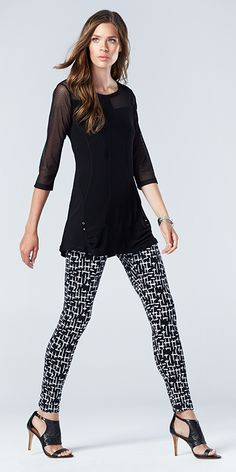 Great seasonless legging with shaping leg and Tribal's signature FLATTEN IT waistband for a smooth look. Cotton, Spandex Machine Wash Cold, Lay Flat to Dry Tribal Fashion, Womens Fashion, Tribal Outfit, Spring Looks, Fashion Today, Tribal Clothing, A Boutique, Black Jeans, Clothes For Women