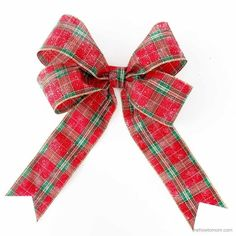 How to Make a Bow for a Wreath - Easy! How To Tie Ribbon, Diy Ribbon, How To Make Bows, Ribbon Bows, Ribbons, Ribbon Flower, Ribbon Hair, Making Bows For Wreaths, Making Hair Bows