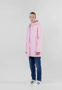 Stutterheim Stockholm Raincoat Dusty Pink – Voo Store