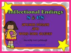 Inflectional Endings -s and -es Anchor Chart and Word Sort product from Lucky-In-Learning on TeachersNotebook.com