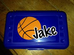 BACK TO SCHOOLPersonalized Pencil Box/ Art by MonogramCollection, $10.00