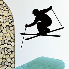 Wall Decal Vinyl Sticker Sport Gym Skier Skiing Decor Sb1042 ElegantWallDecals http://www.amazon.com/dp/B016YAUQ76/ref=cm_sw_r_pi_dp_rj6lwb1NYN8AJ